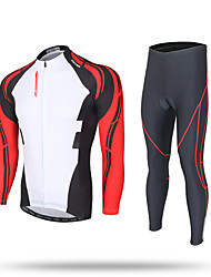 XINTOWN Cycling Jersey with Tights Men's Long Sleeves Bike Jersey Pants/Trousers/Overtrousers Tracksuit Zip Top Fleece Jackets Tops