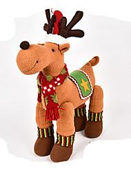 baratos -Elk Decorações Natalinas Adorável Desenho Alta qualidade Fashion Felpudo Para Meninos Para Meninas Brinquedos Dom