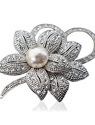 cheap -Women's Fashion Alloy/Rhinestone Flower Brooches Chic Pin Party/Daily/Casual Jewelry Accessory 1pc
