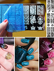 cheap -10 Stamping Plate Nail Stamping Template Daily Fashion High Quality