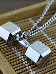 Men's Pendant Necklaces Dumbbell Titanium Steel Dangling Style USA Costume Jewelry Jewelry For Party Daily Casual