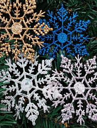 decorações 4pcs de Natal do floco de neve em pó 10 * 6,5 centímetros cor aleatória