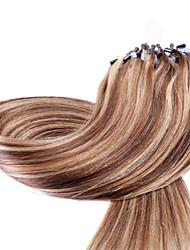 cheap -Micro Ring Hair Extensions Human Hair Extensions Human Hair Straight Women's Daily