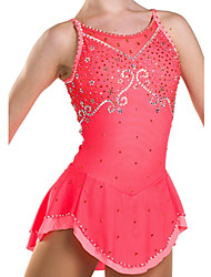 Figure Skating Dress Women's Girls' Ice Skating Dress Elastane High Elasticity Performance Breathable Comfortable Sleeveless Skating Wear