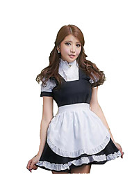 Maid Costumes Career Costumes Cosplay Costumes Party Costume Female Halloween Carnival Festival/Holiday Halloween Costumes Black/White