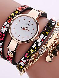 Femme Montre Tendance Montre Bracelet Bracelet de Montre Quartz Coloré Polyuréthane Banderétro Fleur Bohème Charme Bracelet Cool Pour