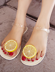 Women's Shoes PVC Jelly Shoes Sandals For Casual White Black