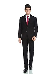 cheap -Tuxedos Tailored Fit Notch Single Breasted Three-buttons Wool Blend Polyester / Rayon(T / R) Viscose Solid Colored