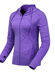 Women's Running Jacket Long Sleeves Thermal / Warm Breathable Comfortable Jacket Sweatshirt Top for Exercise & Fitness Leisure Sports