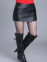 Women's Going out Casual/Daily Mini Skirts,Cute Bodycon Solid Winter