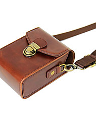 cheap -Dengpin PU Leather Camera Case Bag Cover for Casio ZR3600 ZR3500 ZR2000 ZR1500 ZR1700 ZR55(Assorted Colors)