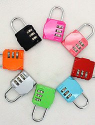cheap -Luggage Lock / Coded Lock 3 Digit Portable / Luggage Accessory / Anti-theft For Luggage 1 pc