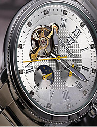 hesapli Tevise®-Tevise Erkek Kadın's Çiftlerin mekanik izle İskelet Saat Moda Saat Spor Saat Quartz Otomatik kendi hareketli Takvim Su Resisdansı Gece