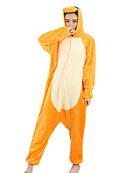 economico -Pigiama Kigurumi Drago Pigiama intero Pigiami Costume Visone velluto Arancione Cosplay Per Per adulto Pigiama a fantasia animaletto