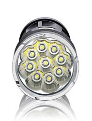 Lanternas LED LED 3000 Lumens 3 Modo LED Baterias não incluídas Impermeável Alta Intensidade Regulável Super Leve para Campismo /