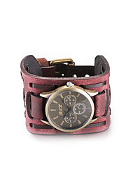 cheap -Women's Fashion Watch Wrist watch Bracelet Watch Quartz Water Resistant / Water Proof Leather Band Vintage Bohemian Bangle Black Red