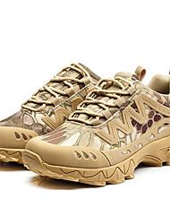 Femme-Extérieure Décontracté Sport-Noir BeigeConfort-Chaussures d'Athlétisme-Daim