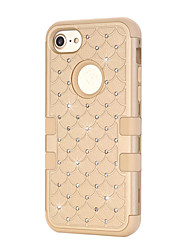 cheap -For iPhone 7 Plus 7 Shining Bling Dual Layer Defender Case Silicone Hard Plastic 3 in 1 Shockproof Phone Cover iPhone 6s Plus 6s 6 SE 5s 5 5c