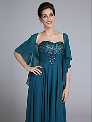 cheap -Chiffon Wedding Party Evening Women's Wrap With Tiered Coats / Jackets