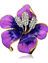 cheap -Women's Fashion Alloy/Rhinestone Flower Brooches Pin Party/Daily/Wedding Scarf Clips Jewelry 1pc
