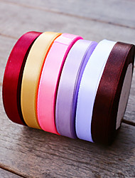 W 1.2cm/0.5 L 22.5m/45yard Multi-Color Ribbons DIY Wedding Favor Packaging Material - Beterwedding