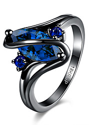 cheap -Women's Band Rings Cubic Zirconia Fashion Adjustable Zircon Drop Jewelry For Party Halloween