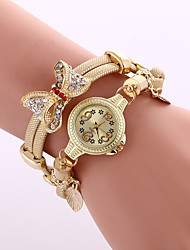 cheap -Women's Dress Watch Fashion Watch Wrist watch Bracelet Watch Colorful Quartz Alloy BandVintage Sparkle Butterfly Bohemian Charm Bangle Strap Watch