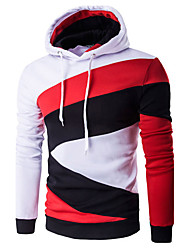 cheap -Men's Daily Active Regular HoodiesSolid/ / Polyester Spring / Fall Hot Sale Brand Fashion High Quality