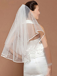 one-tier blyant kant bryllup slør albue slør med tyll bryllup tilbehør