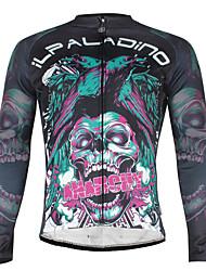ILPALADINO Camisa para Ciclismo Homens Manga Longa Moto Jaquetas em Velocino / Lã Camisa/Roupas Para Esporte Prova-de-Água A Prova de