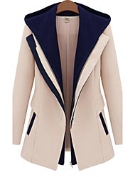 cheap -Women's Work Coat - Color Block, Modern Style