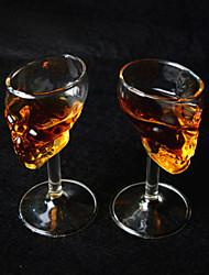 Недорогие -2 шт хлопнуть вверх творческий череп головы водка виски пить стакан вина бокал бутылка чашка стеклянная посуда красное вино из стекла