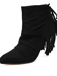 Women's Boots Fall Winter Suede Casual Black Light Brown
