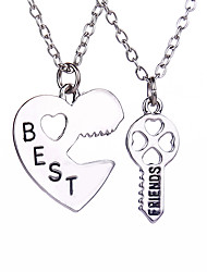cheap -Men's / Women's Jewelry Set / Pendant / Necklace - Heart Personalized, Love, Magnetic Therapy Silver Necklace Jewelry For Daily, Casual, Sports