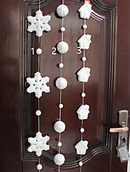 1PC Foam Snowflake Christmas Supplies Pendant Shopping Mall Window Decoration(Style random)