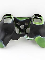 protezione dual-color in silicone caso lo stile per ps3 controller (verde e nero)