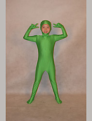 cheap -Ninja Zentai Suits Kid Festival / Holiday Halloween Costumes Green Solid
