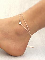 Недорогие -Ножной браслет - Сердце Мода Золотой Назначение Повседневные / Жен.
