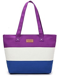 Women Bags Canvas Tote with for Casual White Purple Peach Light Blue