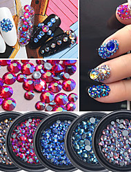 1Box High Quality Color Diamond 4 Dimensions Mixed About 100 Pcs