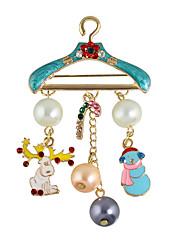 moda colorata imitazione spille di perle per le donne stile elegante