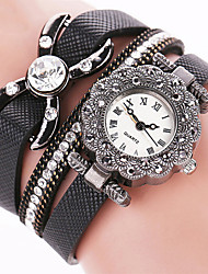 Women's Dress Watch Fashion Watch Wrist watch Bracelet Watch Punk Colorful Quartz PU BandVintage Sparkle Candy color Butterfly Bohemian Strap Watch
