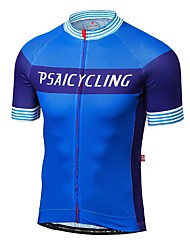 cheap -Men's Short Sleeve Cycling Jersey Bike Jersey, Quick Dry, Ultraviolet Resistant, Breathable Polyester, Spandex, Coolmax®