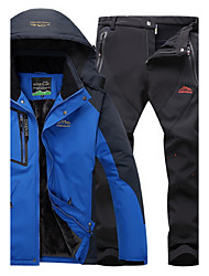 abordables -Hombre Chaqueta con pantalones para senderismo Impermeable Mantiene abrigado Resistente al Viento Aislado Cómodo Top Prendas de abajo para