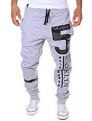 Men's Mid Rise Stretchy Active Sweatpants Pants,Active Loose Letter