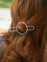 Women's Fashion Simple Geometric Circle Copper Hairpin Hair Accessories 1Set