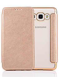 cheap -For Samsung  Galaxy J3 J5 J7 J5(2016) J7(2016) Case Cover  Pure Color Elegant Elegant Electroplating TPU Shell After Striae Cell Phone Sets