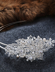 Imitation Pearl Alloy Tiaras Headbands Headpiece