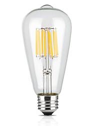 9W E26/E27 Lampadine LED a incandescenza ST64 12 COB 1100 lm Bianco caldo 2700 K AC 220-240 V