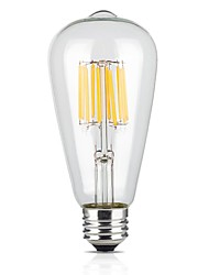 9W E26/E27 Ampoules à Filament LED ST64 12 COB 1100 lm Blanc Chaud 2700 K AC 100-240 V